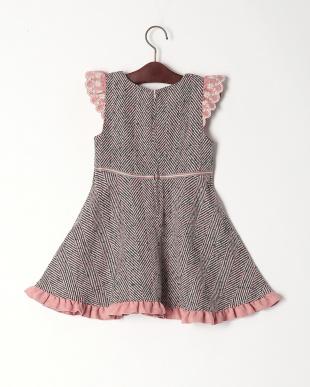 ピンク アップルポケットジャンパースカートを見る