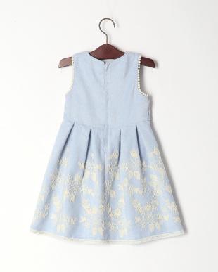 ブルー フラワー刺繍ジャンパースカートを見る