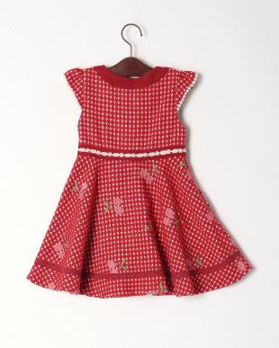 レッド チェリー刺繍ジャンパースカートを見る