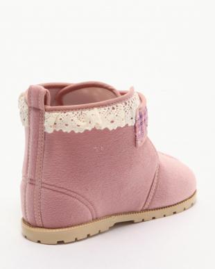 ピンク スウェードブーツを見る