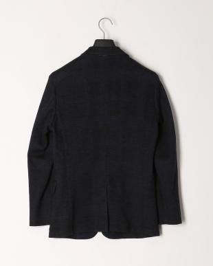 ブルー クレストブリッジグレンチェックウールジャージージャケットを見る