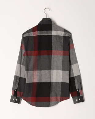 ダークグレー フランネルビッグスケールクレストブリッジチェックシャツを見る