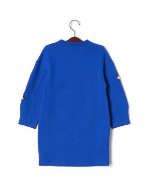 ブルー フローラルデザイン スウェットドレスを見る