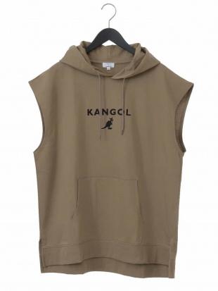 ベージュ KANGOL/カンゴール ミニウラケロゴベストパーカー a.v.v HOMMEを見る