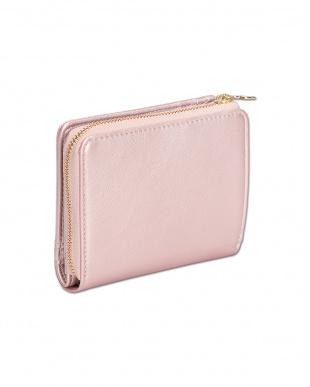ピンク フロントポケット ウォレットを見る