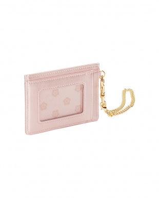ピンク フロントポケット シングルパスケースを見る