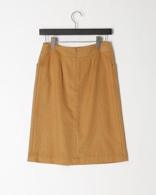 キャメル シルクカシミヤセミタイトスカートを見る