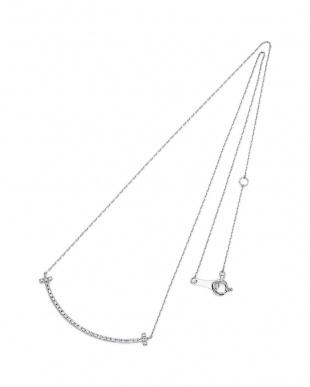 ホワイトゴールド K18WG  ダイヤモンド デザインネックレスを見る