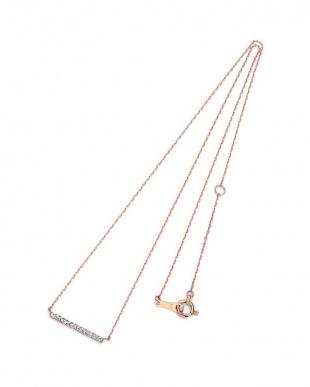 ピンクゴールド K18PG ダイヤモンド ネックレスを見る