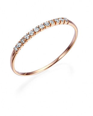 ピンクゴールド K18PG H&Cダイヤモンド リングを見る