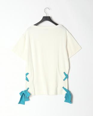 91/無彩色B(オフホワイト) SUPRELADY 裾リボンカットソープルオーバーを見る