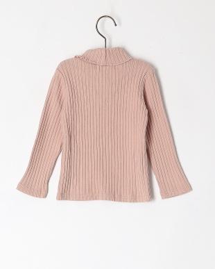 ピンク タートルネックナガソデTシャツを見る