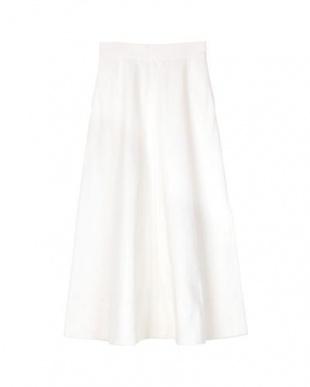ホワイト ハイウエストデニムロングスカートを見る