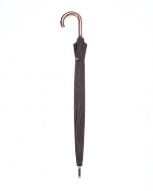 ブラック 耐風16本骨耐久撥水ジャンプ長 雨晴兼用傘を見る