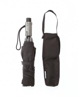 ブラック ワンプッシュ自動開閉傘 手を濡らさずに畳めるステッパーを見る
