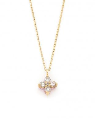 イエローゴールド K18YG ピンクサファイア×ダイヤモンド0.20ct リバーシブルネックレスを見る
