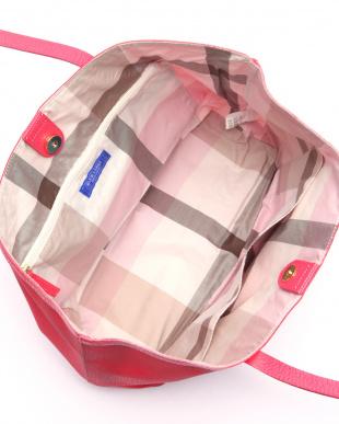 ピンク ソリッドPVCトートバッグを見る