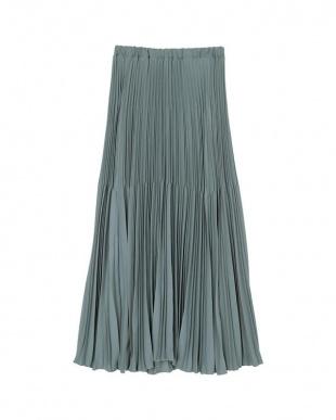 ブルー 変形プリーツスカートを見る