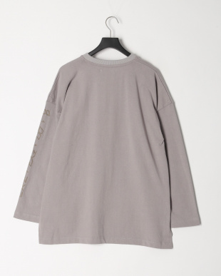 LIGHT GREY LONG SLEEVE PRINTED TEEを見る