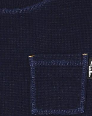 ネイビーブルー ワッフル長袖Tシャツを見る