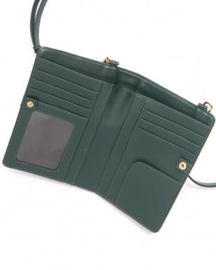GREEN 型押しレザー お財布ショルダーを見る
