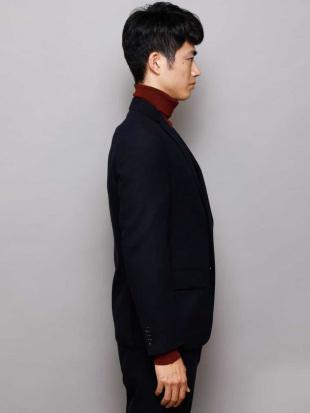 ネイビー 【セットアップアイテム】ホームスパンテーラードジャケット a.v.v HOMMEを見る