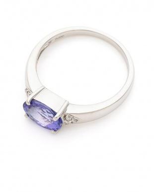 プラチナ PT900 タンザナイト ダイヤモンド リングを見る