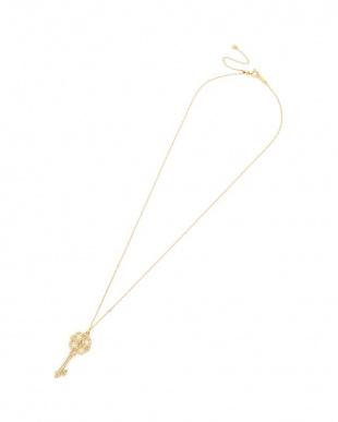 イエローゴールド K18 ダイヤモンド ネックレスを見る