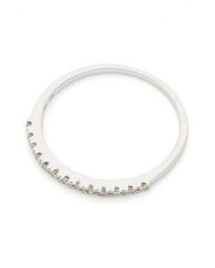 ホワイトゴールド K10WGダイヤモンド0.1ct リングを見る