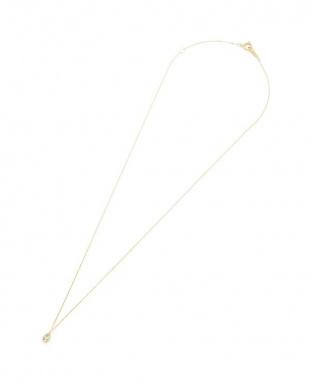 イエローゴールド K18YG ダイヤモンド ティアドロップモチーフ ネックレスを見る