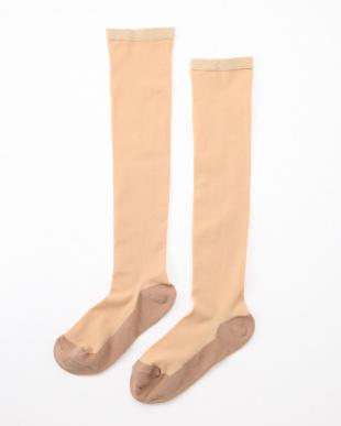 ベージュ まるでストッキングを履いたようなくつした あったかタイプ4足セットを見る