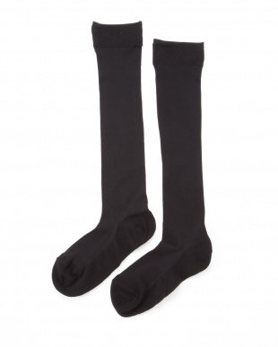 ブラック×ブラック まるでストッキングを履いたようなくつした 薄手キレイ魅せタイプ4足セットを見る