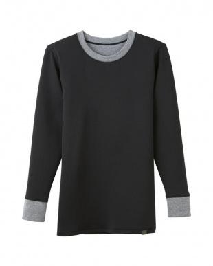 ブラック クル-ネツクロングスリ-ブシャツ×2点 SETを見る