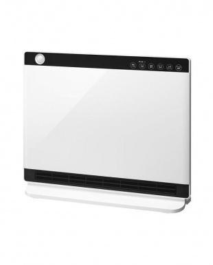 ホワイト 人感/室温センサー付大風量セラミックヒーター ヒートワイドスリムを見る