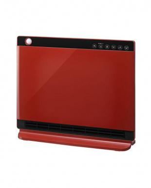 レッド 人感/室温センサー付大風量セラミックヒーター ヒートワイドスリムを見る
