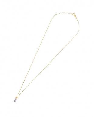 イエローゴールド K10YG タンザナイト ネックレスを見る