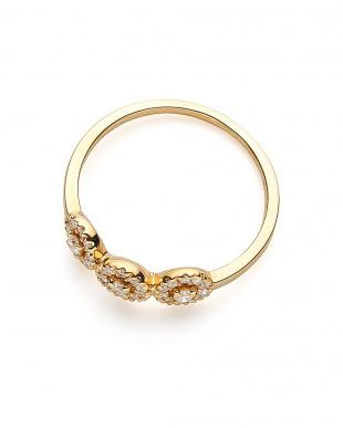 イエローゴールド K18YG ダイヤモンド 0.22ct デザインリングを見る