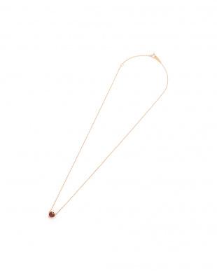 ピンクゴールド K10PG ガーネット ネックレスを見る