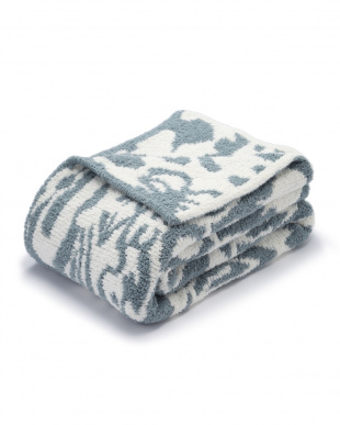Silver Blue/Crème Throw Damask Patternを見る
