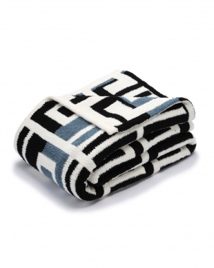 Aegean Blue/Black/Crème Throw Grecianを見る