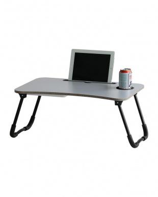 ブラック スマホ・タブレット用折りたたみテーブル(収納付き)を見る