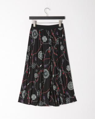 クロ柄 プリントスカートを見る