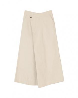 アイボリー ラップデザインAラインロングスカートを見る