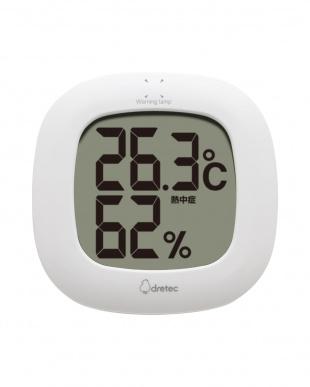 ホワイト デジタル温湿度計「ルミール」を見る