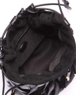 ブラック Gem. Leather Weave Bagを見る