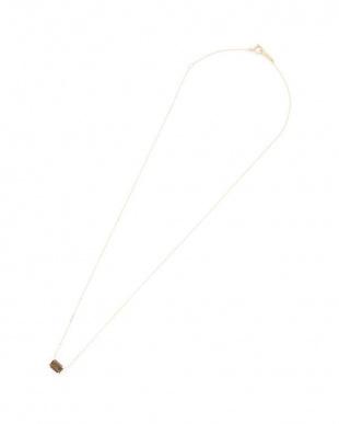 イエローゴールド K18 スモーキークォーツ ネックレスを見る