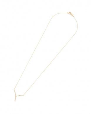 イエロー K18 ダイヤモンド ネックレスを見る