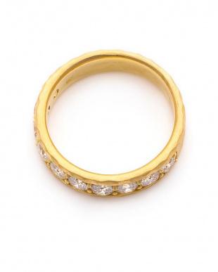 イエロー K18 ダイヤモンド ハーフエタニティ リングを見る