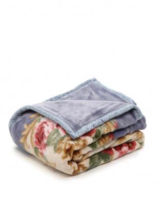 ブルー 日本製合わせ毛布シングルを見る