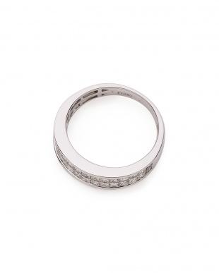 ホワイトゴールド 18KWG ダイヤモンド約0.65ct インビジブルセッティング ハーフエタニティリングを見る